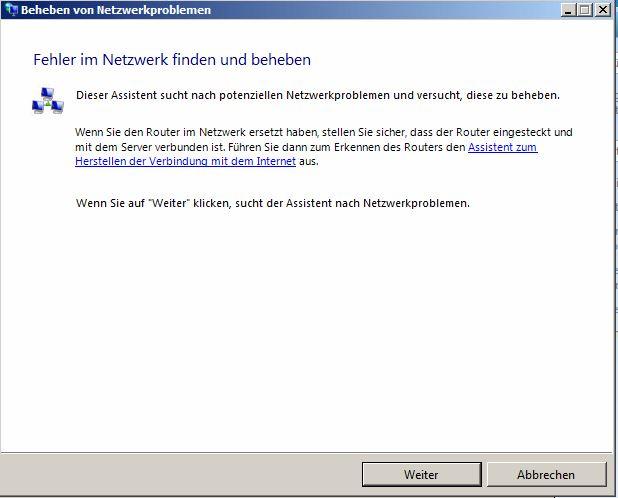 Beheben von Netzwerkproblemen