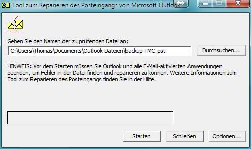 Outlook-Datendateien PST und OST reparieren