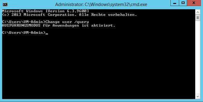 Installationsmodus auf einem Terminalserver einstellen