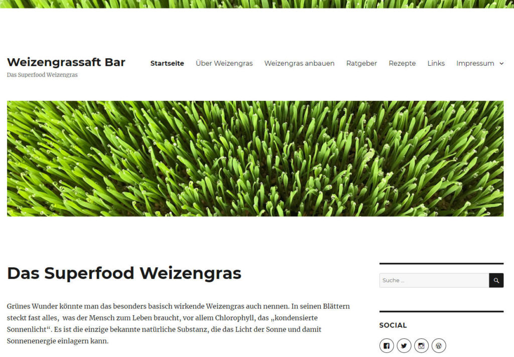 Weizengrassaft Bar