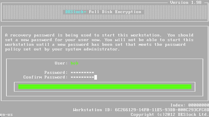 Deslock wie setze ich das Full Disk Encryption-Passwort eines verwalteten Benutzers zurück