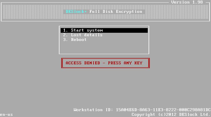 So starten Sie ein System das Full Disk Encrypted ist