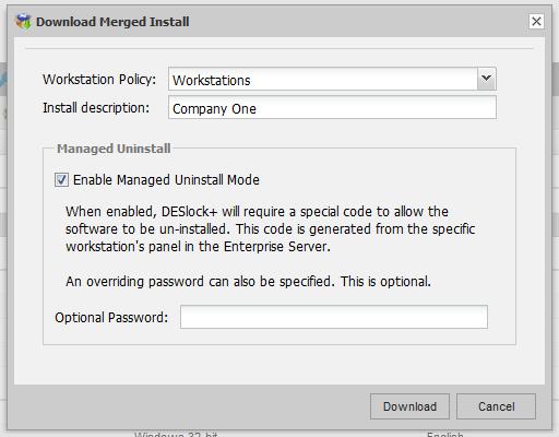 """DESlock - Was ist die Option """"Verwaltete Deinstallation"""""""