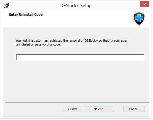 DESlock - Was ist die Option Verwaltete Deinstallation