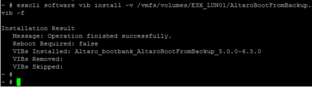 Altaro Boot from Backup unter VMware