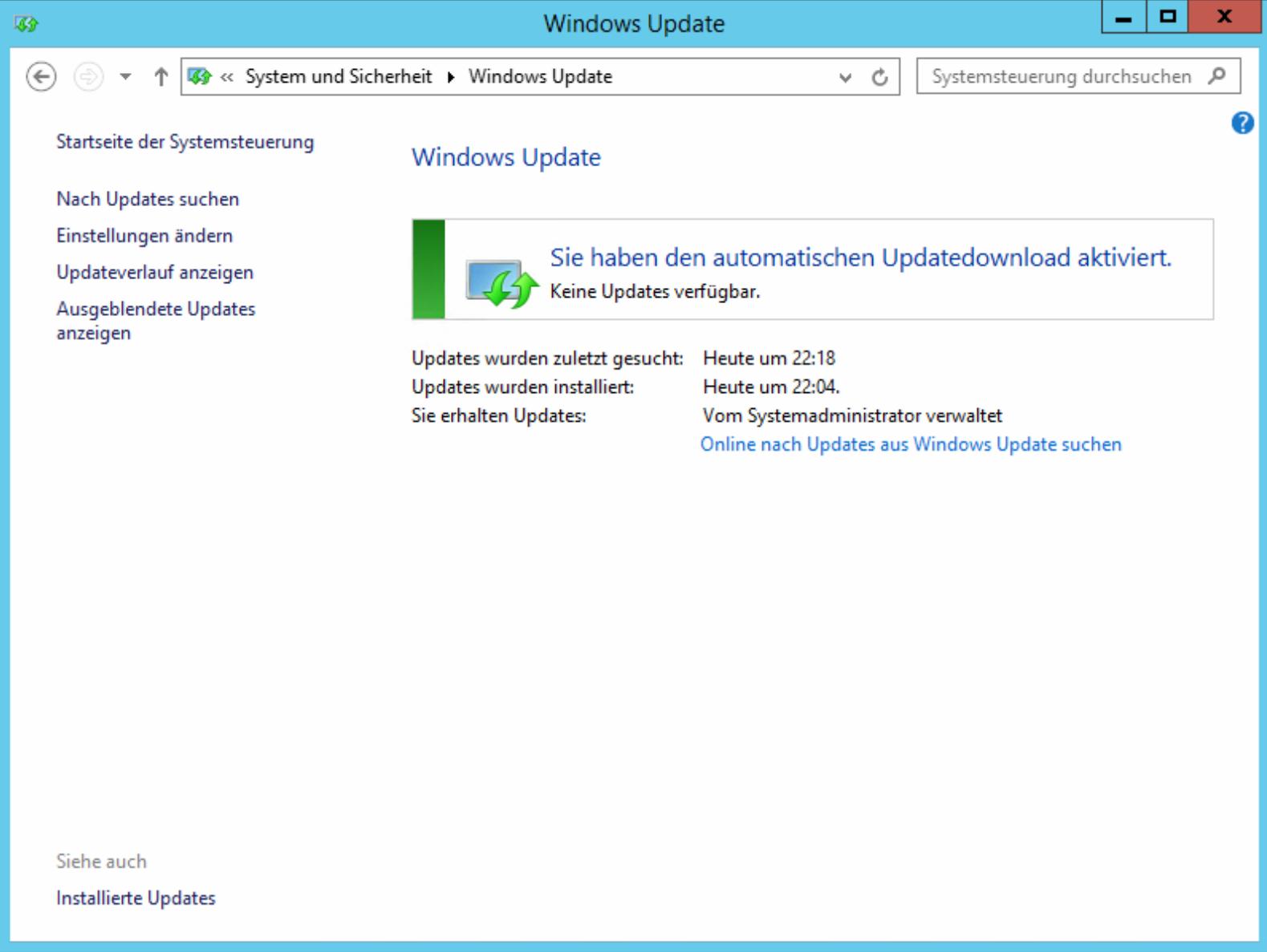 Code 800B001 bei Windows Updates mit Verwendung eines WSUS