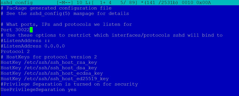 Linux SSH Port ändern