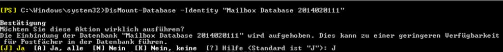 Exchange 2010-Datenbanken überprüfen