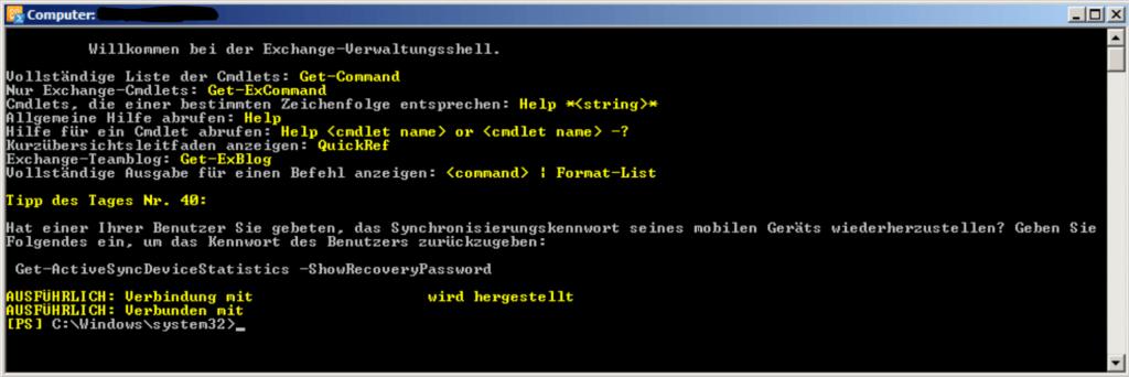 PowerShell Befehle für Exchange 2010
