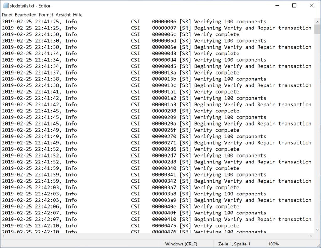 Verwenden Sie die Systemdateiprüfung SFC um Windows zu reparieren