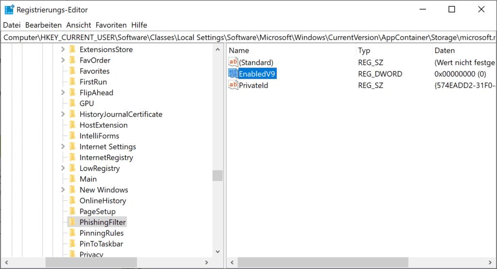 Aktivieren / Deaktivieren Sie Windows Defender SmartScreen in Microsoft Edge
