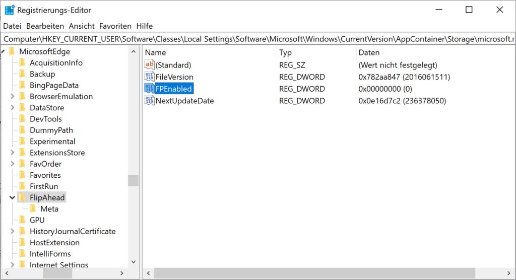 Aktivieren / Deaktivieren der Seitenvorhersage in Microsoft Edge