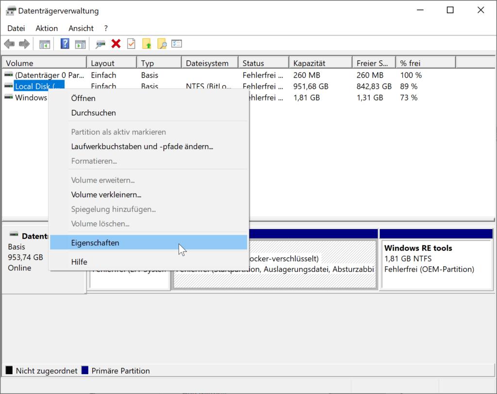 Aktivieren des Schreibcache in Windows 10