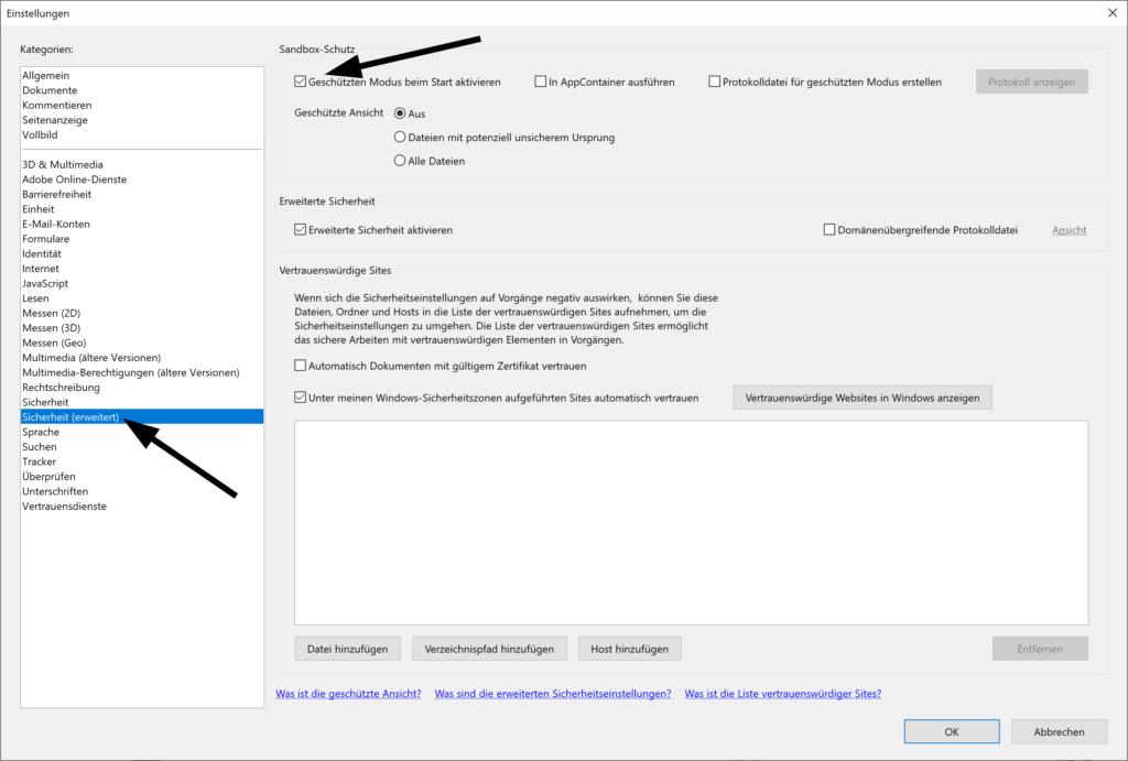 Adobe Reader DC startet sehr langsam