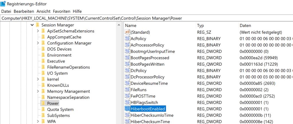 Schnellstart in Windows 10 aktivieren / deaktivieren