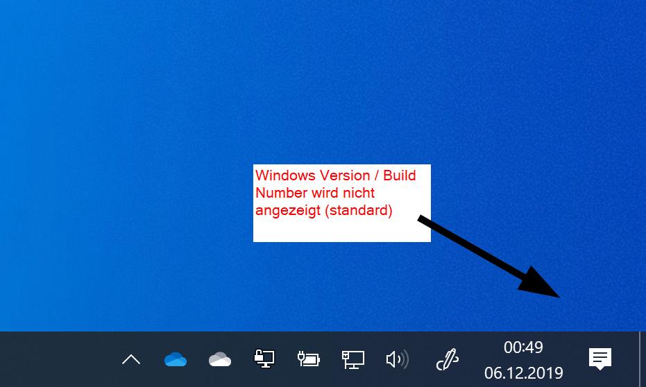 Wie zeige ich die Windows-Version auf dem Desktop an