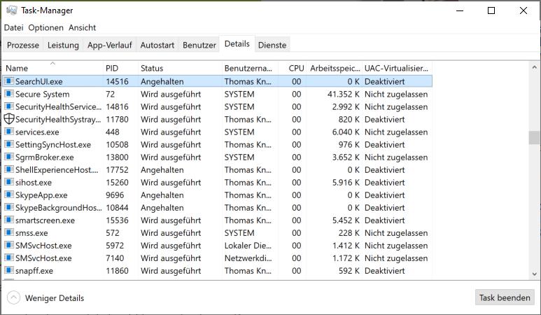 Windows-Suche funktioniert unter Windows 10 nicht mehr