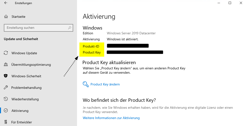 Produkt-ID vs. Produktschlüssel in Windows