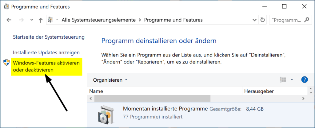 Windows Defender Application Guard unter Windows 10 aktivieren oder deaktiviern
