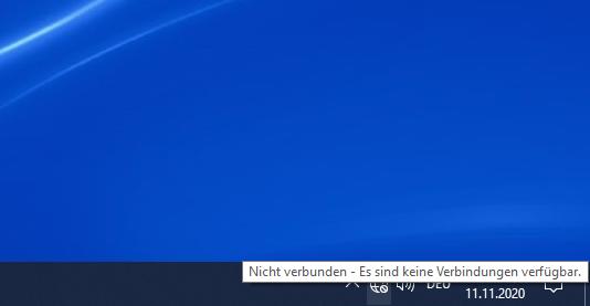 Das Netzwerksymbol zeigt keinen Internetzugang an, ist jedoch unter Windows 10 verbunden