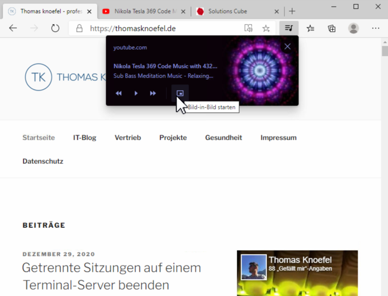 Aktivieren Sie Global Media Controls in Microsoft Edge