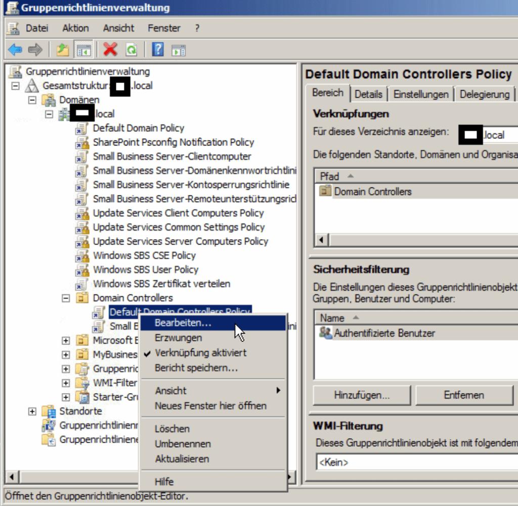 Windows 10 Domänencomputer kann sich nur langsam anmelden